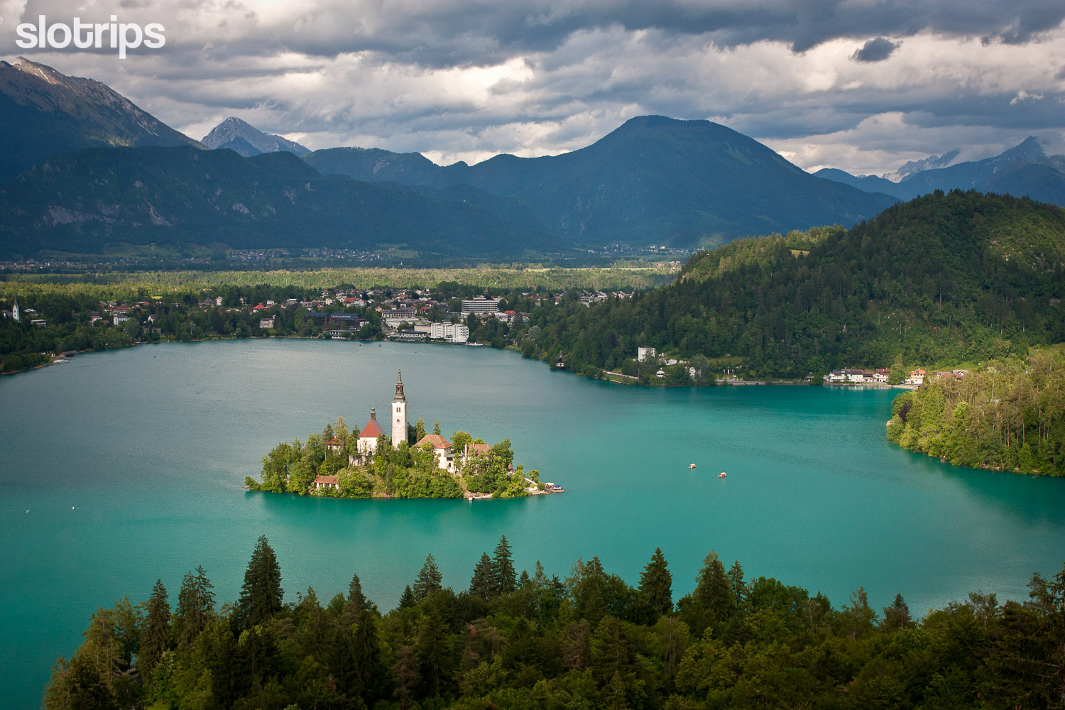 Lake Bled from Ojstrica viewpoint, Slovenia