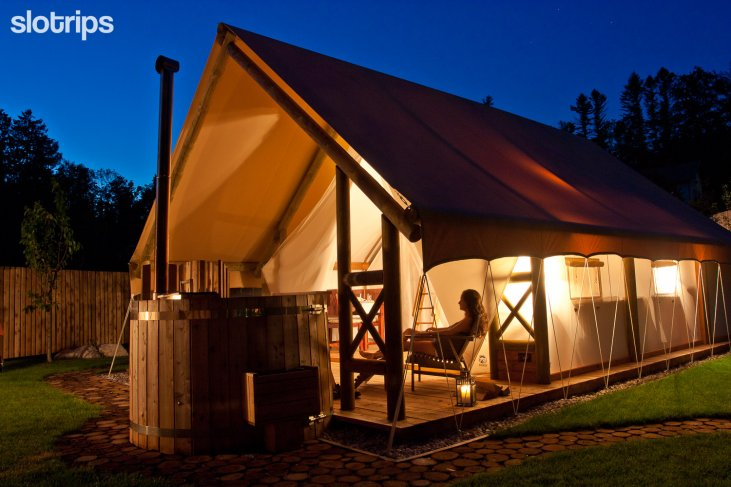 Glamping tent at Lake Bled, Slovenia
