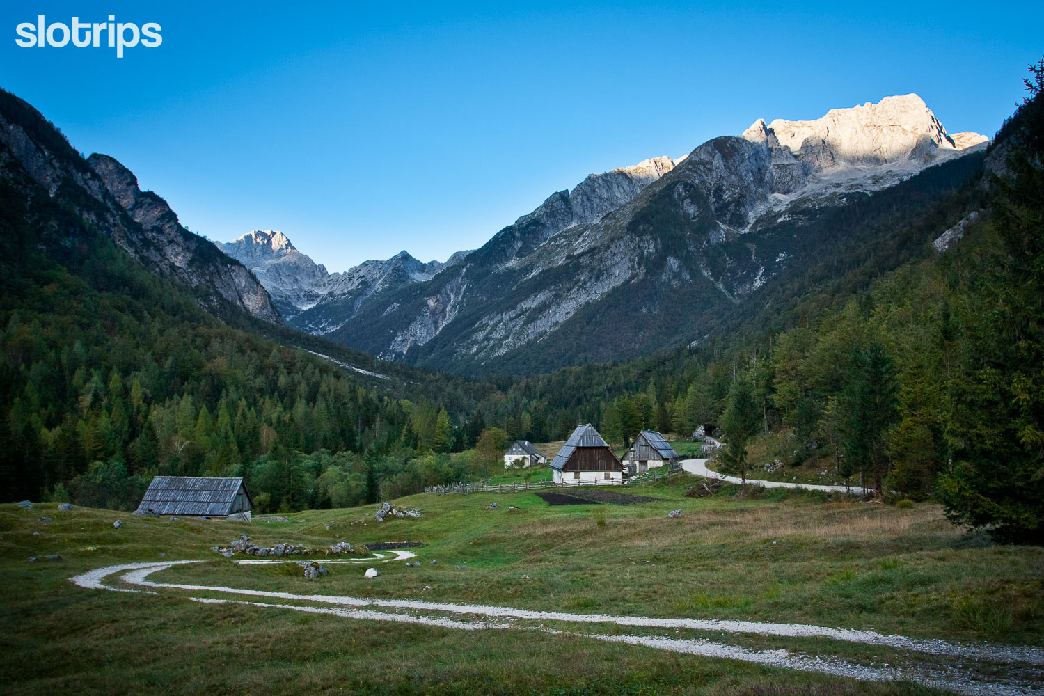 Trenta valley on the Alpe-Adria walking trail, Slovenia