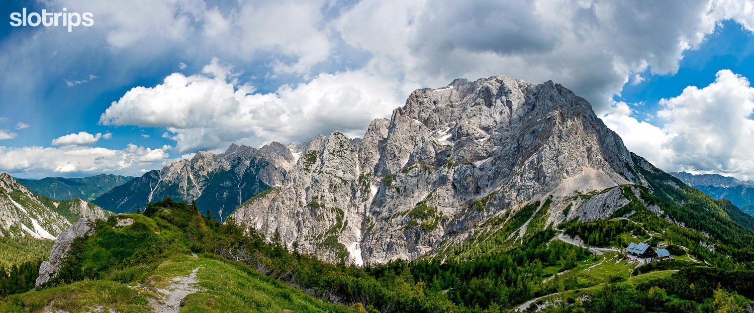 View of the Julian Alps from a walking trip to Vrsic pass, Slovenia