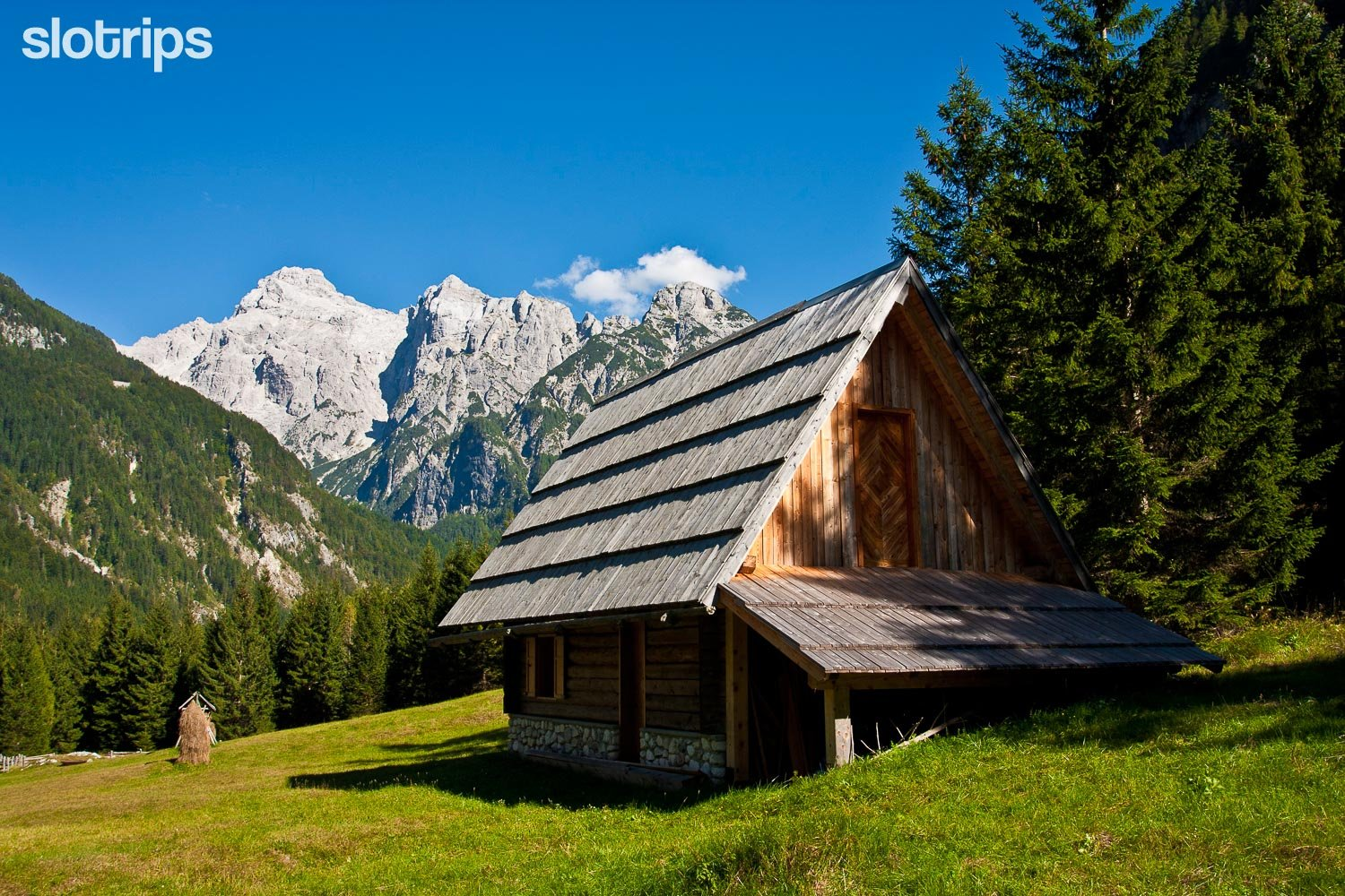 Alpine hotel in a seculede location in the Julian Alps, Slovenia