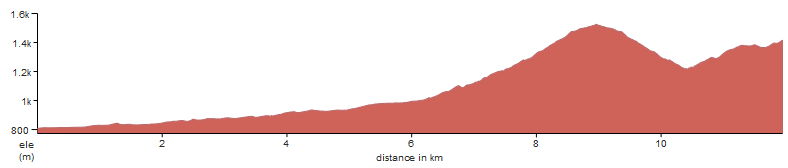 An elevation profile of 3 day Alpe-Adria trail, between Kranjska Gora and Tonkina koca