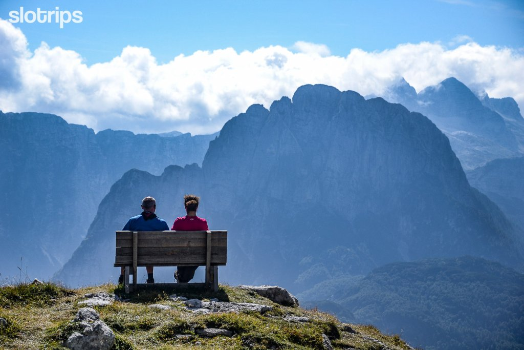 View of the Julian Alps on Mangart saddle, Slovenia