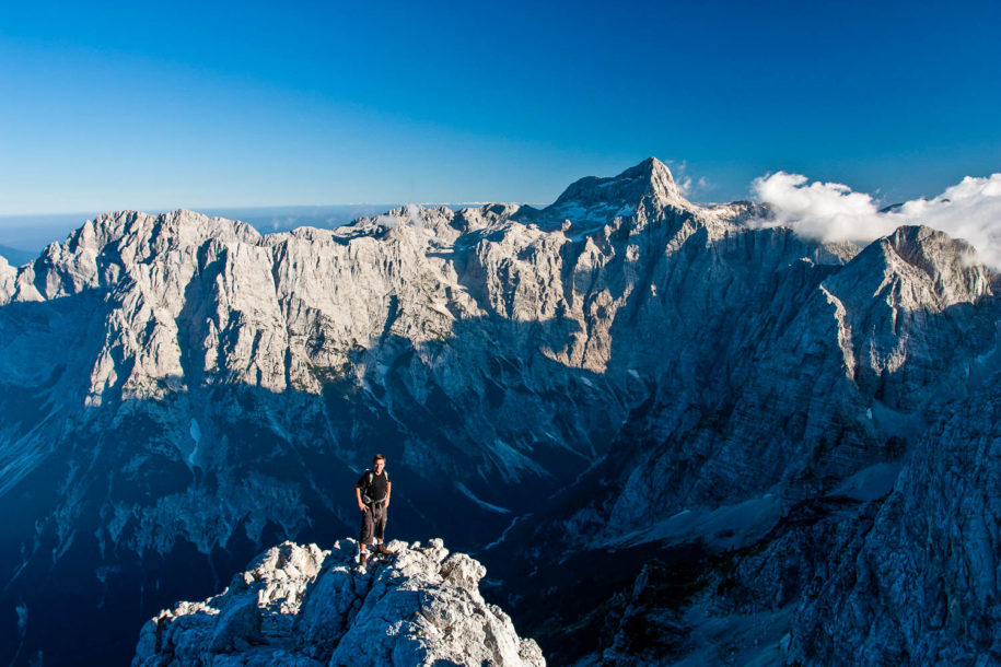 View of Triglav North Wall from Mt. Skrlatica, Slovenia