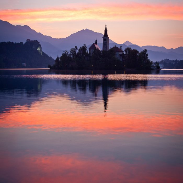 Morning at Lake Bled, Slovenia